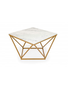 Unique coffee table DIAMENT natural marble top color BIANCO