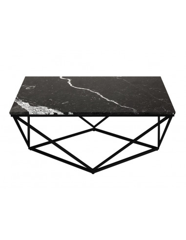 Brilliant Coffee Table Diament Rectangle Marble Top Color Black Steel Base Fh Squirreltailoven Fun Painted Chair Ideas Images Squirreltailovenorg