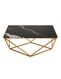 Coffee table DIAMENT rectangle natural NERO MARQUINA marble top