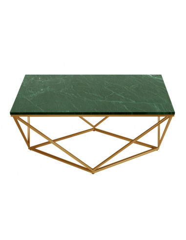 Coffee table DIAMENT rectangle natural VERDE marble top