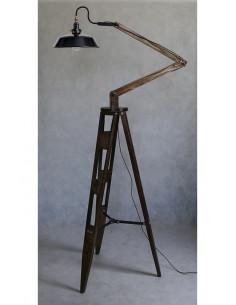 Lampa stojąca CLEO, trójnóg drewniany, max wys. 240 cm Fashion-Home