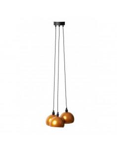 Pendant lamp FASHION 3L Gold/Black