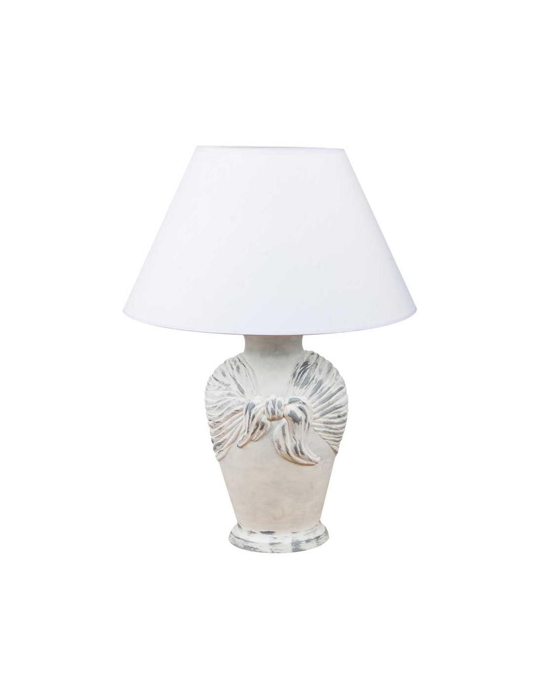 Night Lamp Arcor Fabric Shades Shabby Chic Style Base Fashion Home