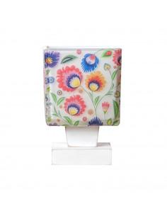 Lampka nocna FOLK 1B-SCANDIA klosz 10x10 ręczna dekoracja Fashion-Home