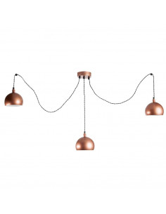 Lampa wisząca pająk FASHION 3LP MIEDŹ-MIEDŹ kula  styl modern - FH