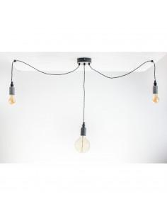 Lampa wisząca NAKE 3LP beton-czarny styl nowoczesny - Fashion-Home