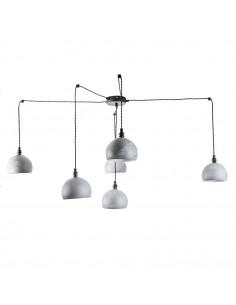 Lampa wisząca pająk FASHION 6NP BETON-CZARNY kula styl nowoczesny - FH