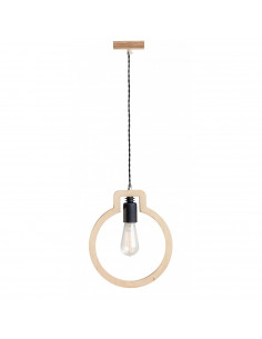 Lampka wisząca sufitowa BULB 1L sklejka kolor naturalny Fashion-Home