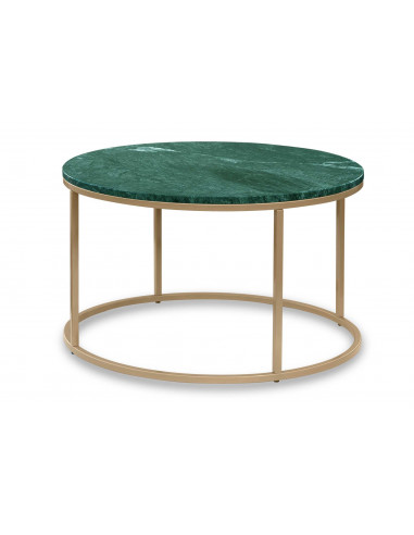Rounded coffee table OZZY natural marble top