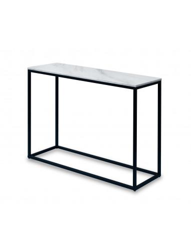 Konsola-marmur-Sara-100x35x75-Bianco-czarny-2-cm-Fashion-Home