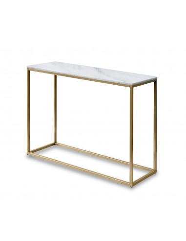 Konsola-marmur-Sara-100x35x75-Bianco-zlota-perla-2-cm-Fashion-Home