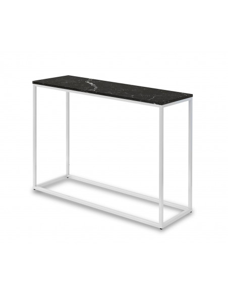 Konsola-marmur-Sara-100x35x75-Nero-biały-2-cm-Fashion-Home