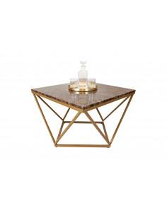 Unikalny stolik kawowy Diament z blatem marmurowym