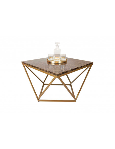 Unique coffee table DIAMENT natural marble top