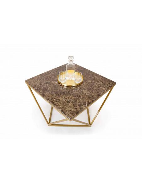 Unikalny stolik kawowy Diament z blatem marmurowym Fashion-Home