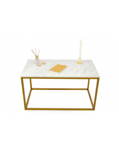 Coffee table LISA natural marble top