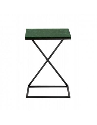 Stolik pomocniczy industrialny IKS blat marmurowy Fashion-Home