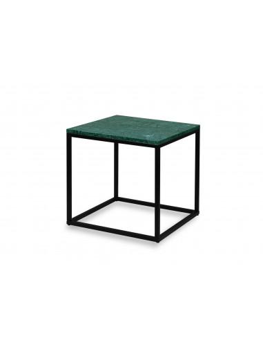 Coffee-table-marble-Verde-2-cm-Qube-50x50x50-black- base-Fashion-Home