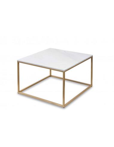 Stolik kawowy Square z blatem marmurowym Fashion-Home