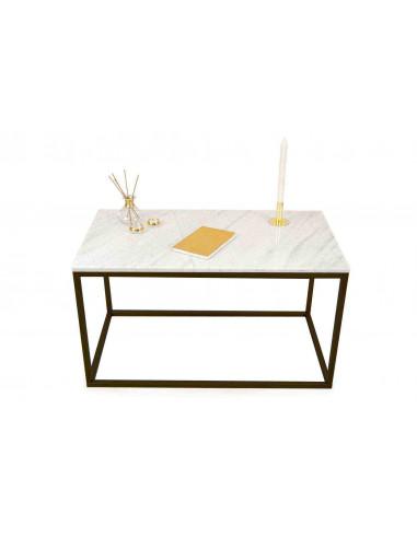 Stolik-Lisa-marmur-Biały-grubość-2cm-podstawa-czarna-wymiary-90x50x50-Fashion-Home