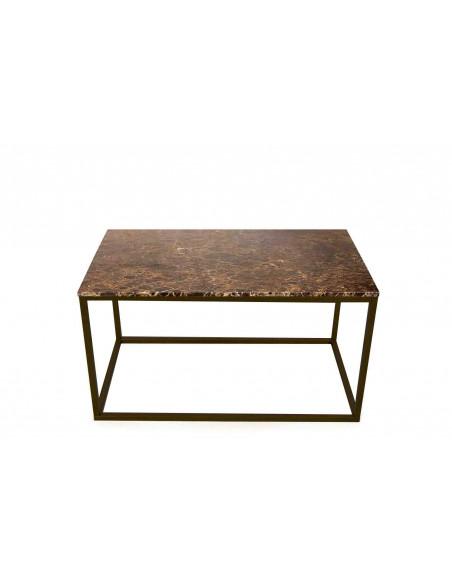 Stolik-Lisa-marmur-Brązowy-grubość-2cm-podstawa-czarna-wymiary-90x50x50-Fashion-Home