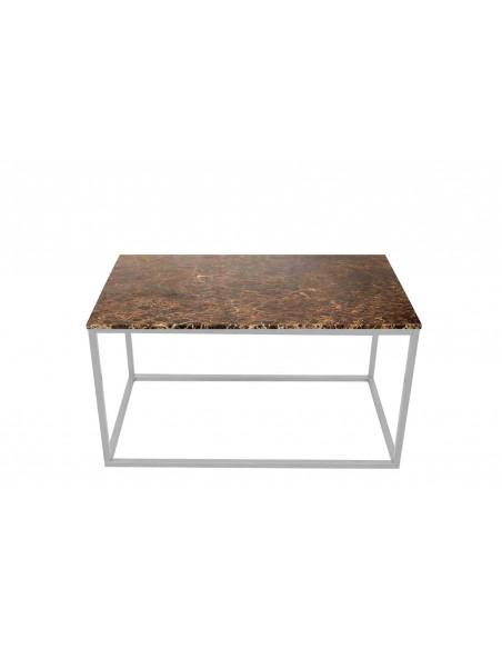 Stolik-Lisa-marmur-Brązowy-grubość-2cm-podstawa-srebrna-wymiary-90x50x50-Fashion-Home