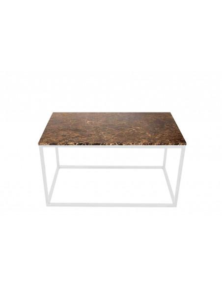 Stolik-Lisa-marmur-Brązowy-grubość-2cm-podstawa-biała-wymiary-90x50x50-Fashion-Home