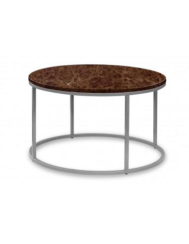 Okrągły stolik kawowy Ozzy z blatem...