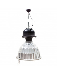 Lampa wisząca na śrubie rzymskiej loft srebrna DUSTRY - Fashion-Home