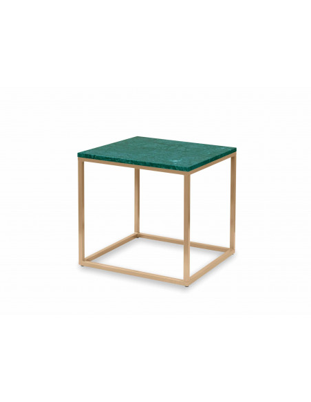 Coffee table QUBE natural marble top color VERDE