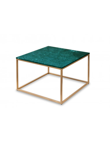 Coffee table SQUARE natural marble top color VERDE