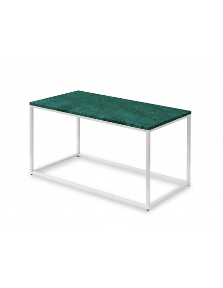 Coffee table LISA natural marble top color VERDE