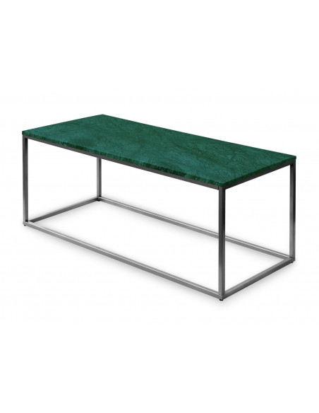 Coffee table ATENA natural marble top color VERDE