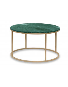 Rounded coffee table OZZY natural marble top color VERDE