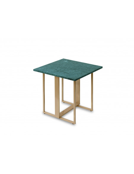 Coffee table MOZART natural marble top color VERDE