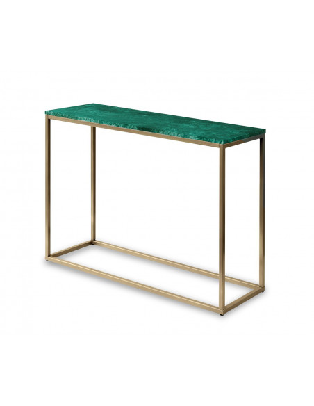 Console SARA natural marble top color VERDE