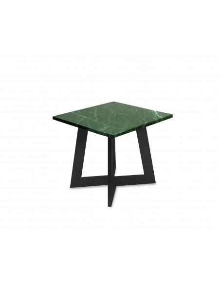 Nowoczesny stolik kawowy Amand S z blatem marmurowym Verde