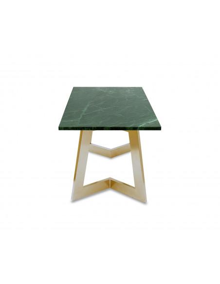 Nowoczesny stolik kawowy Amand L z blatem marmurowym Verde Fashion-Home