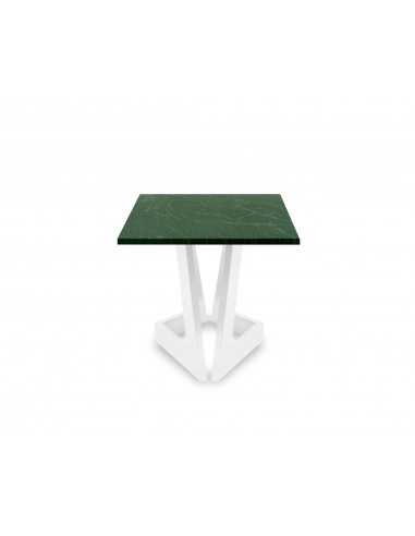 Design coffee table DAMON S natural marble top color VERDE