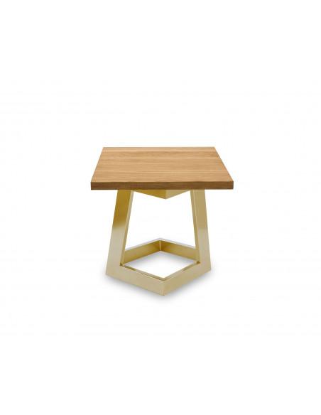 Designerski stolik kawowy Damon S naturalne drewno dębowe