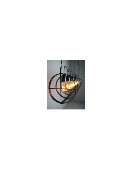 Lampa wisząca industrialna TUBO 10 PKT Fashion-Home