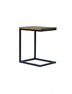 Industrial auxiliary table CELL wooden top