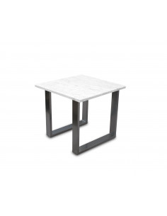 Traditional coffee table FINI S natural marble top color BIANCO