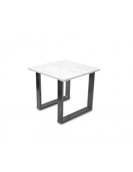 Tradycyjny stolik kawowy Fini S z blatem marmurowym Bianco