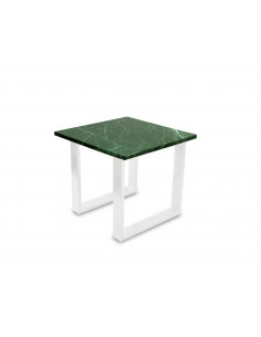 Traditional coffee table FINI S natural marble top color VERDE