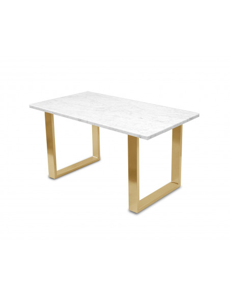 Traditional coffee table FINI L natural marble top color BIANCO
