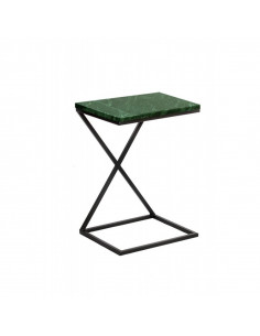 Industrial auxiliary table IKS marble top Verde