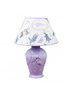 Lampka nocna ARCOR abażur lawenda shabby chick fiolet - Fashion-Home