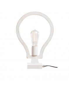Lampka nocna biurkowa BLOBI 1 sklejka kolor biały - Fashion-Home
