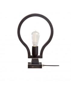 Lampka nocna biurkowa BLOBI 1 sklejka kolor czarny - Fashion-Home